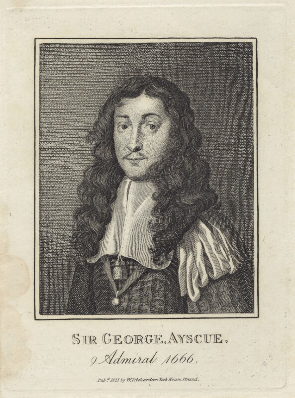 Sir George Ayscue, after Unknown artist, published by  William Richardson, published 1811 - NPG D29929 - © National Portrait Gallery, London