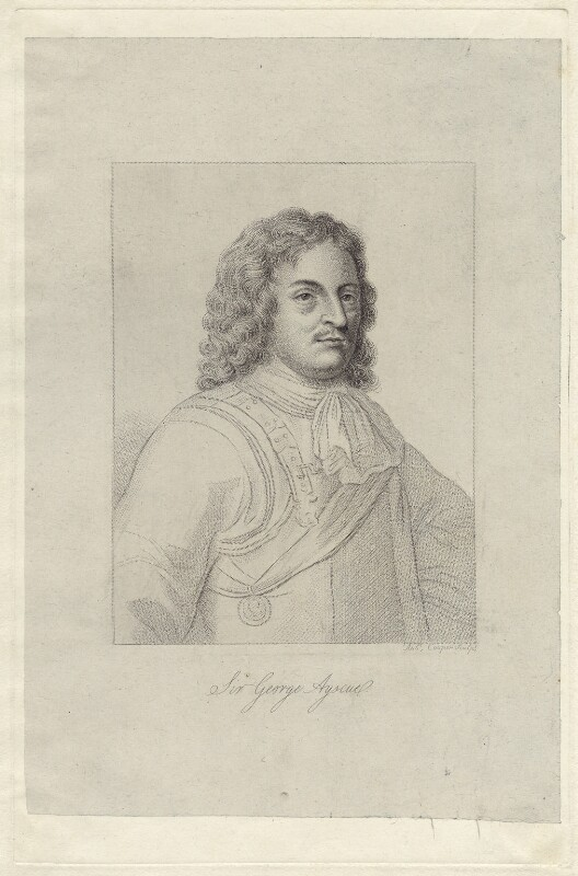 Sir George Ayscue, by Robert Cooper, after  Unknown artist, early 19th century - NPG D29933 - © National Portrait Gallery, London