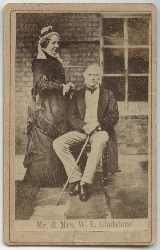 Catherine Gladstone (née Glynne); William Ewart Gladstone, after Archibald McLeod, 1882 - NPG x5976 - © National Portrait Gallery, London