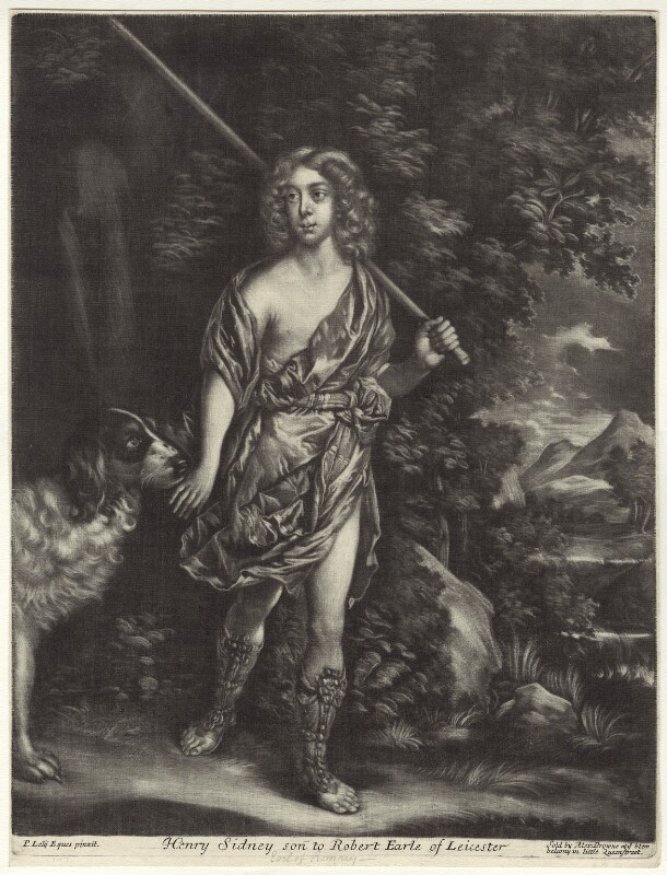 Henry Sidney, Earl of Romney, sold by Alexander Browne, after  Sir Peter Lely, circa 1680-1684 (circa 1650-1654) - NPG D29953 - © National Portrait Gallery, London