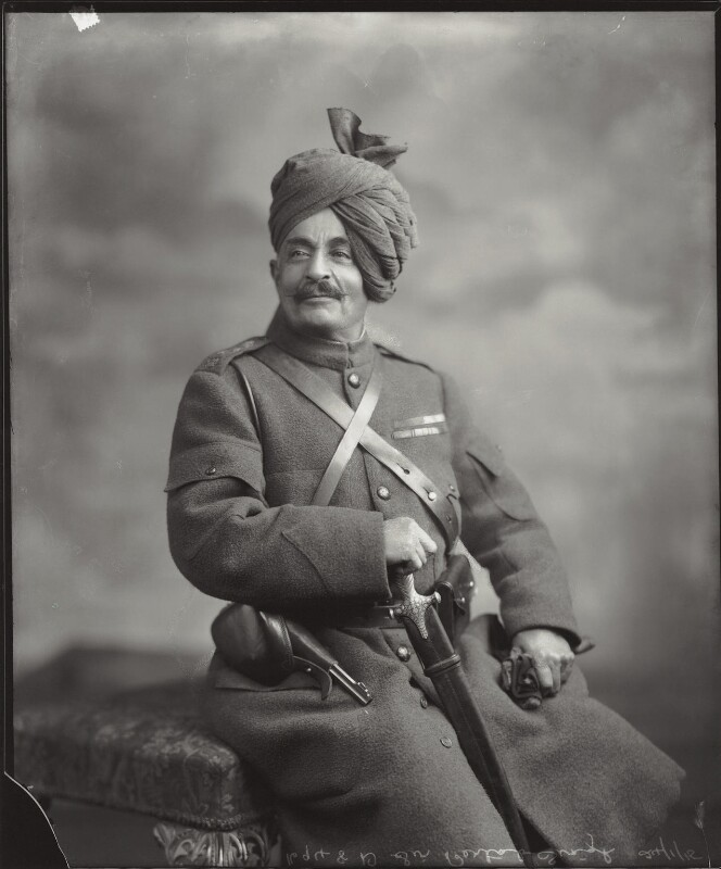 Sir Pertab Singhji, Maharaja of Idar and Regent of Jodhpur, by Vandyk, 24 January 1915 - NPG x130799 - © National Portrait Gallery, London