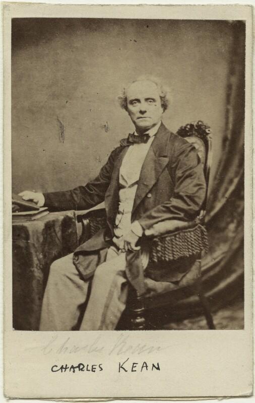 Charles John Kean, by Martin Laroche (William Henry Silvester), 1860s - NPG x12603 - © National Portrait Gallery, London
