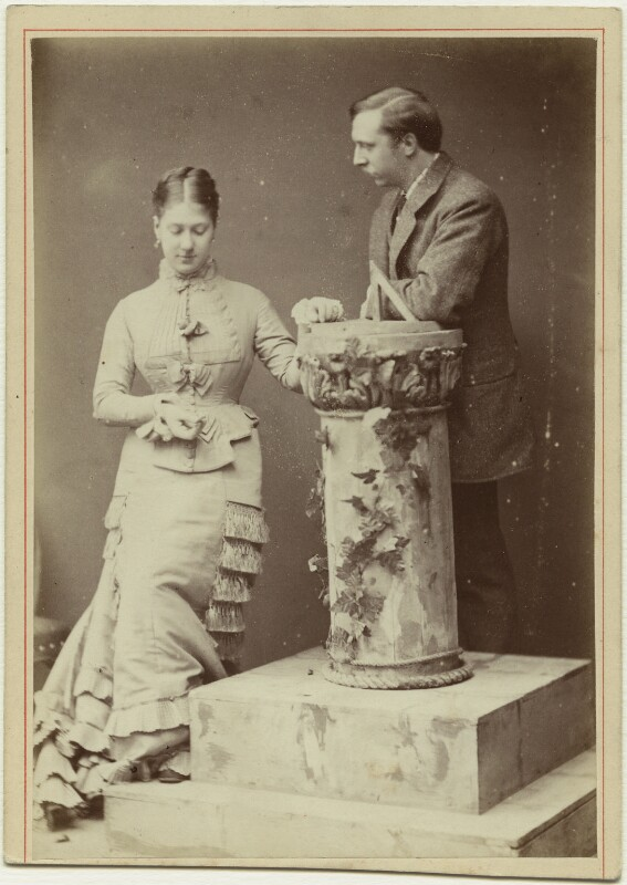 Madge Kendal; William Hunter Kendal (William Hunter Grimston), by London Stereoscopic & Photographic Company, mid 1870s - NPG x46550 - © National Portrait Gallery, London