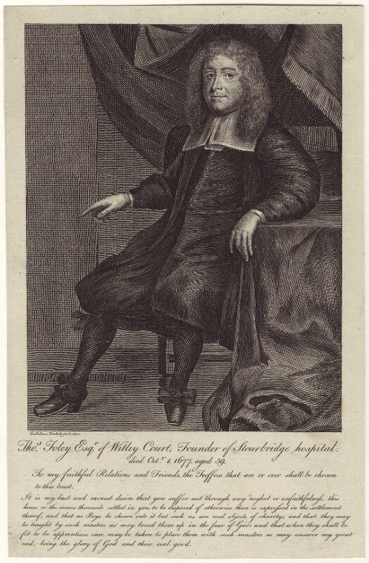 Thomas Foley, after William Trabute, late 18th to early 19th century (1670) - NPG D30030 - © National Portrait Gallery, London