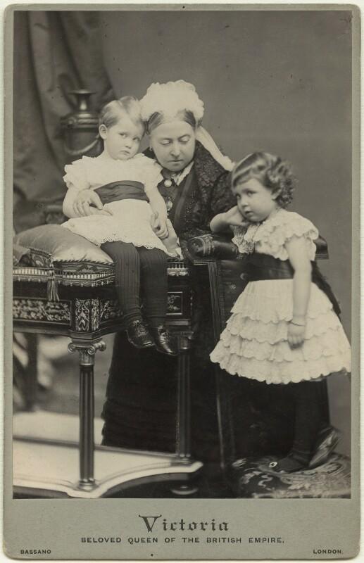 Prince Arthur of Connaught; Queen Victoria; Margaret, Crown Princess of Sweden, by Alexander Bassano, 26 November 1885 - NPG x21185 - © National Portrait Gallery, London