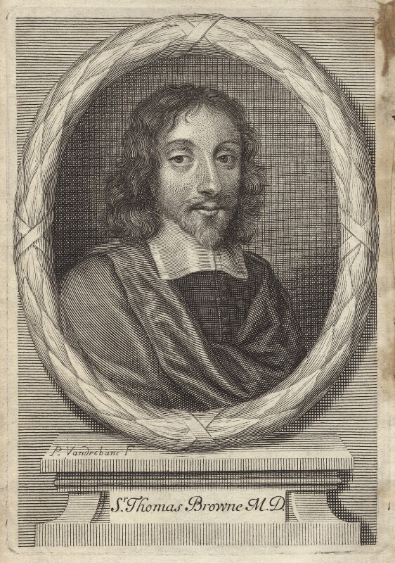 Sir Thomas Browne, by Peter Vanderbank (Vandrebanc), published 1683 - NPG D30051 - © National Portrait Gallery, London