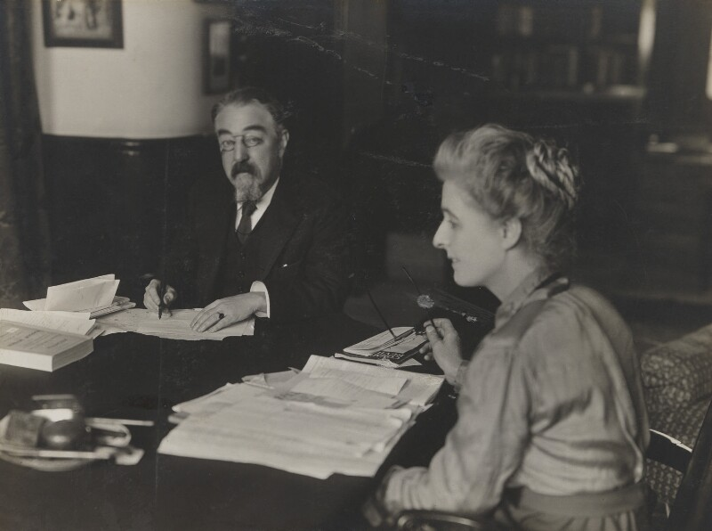 Sidney James Webb, Baron Passfield; Beatrice Webb, by Unknown photographer, 1910s - NPG P1292(2) - © National Portrait Gallery, London