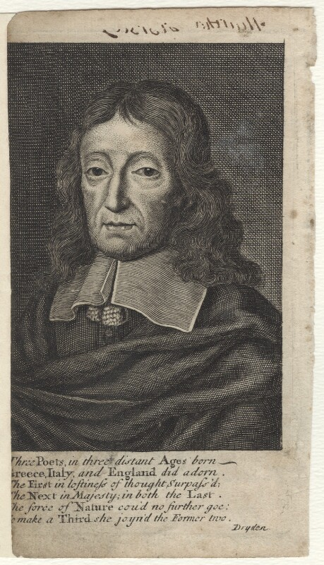 John Milton, possibly by George Vertue, early 18th century - NPG D30103 - © National Portrait Gallery, London