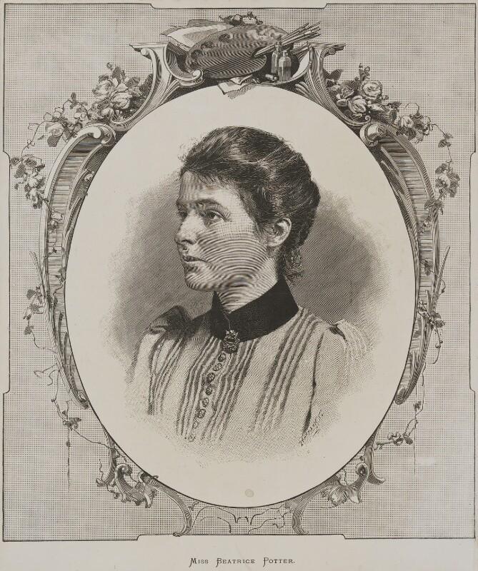 'Miss Beatrice Potter' (Beatrice Webb), after Paul Hermann Naumann, circa 1890 - NPG P1292(9) - © National Portrait Gallery, London