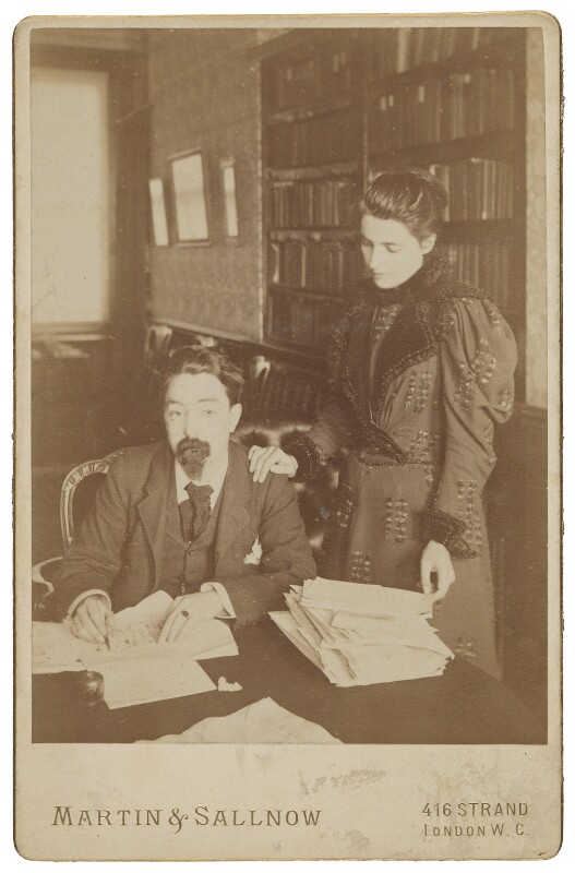 Sidney James Webb, Baron Passfield; Beatrice Webb, by Martin & Sallnow, mid 1890s - NPG P1292(10) - © National Portrait Gallery, London