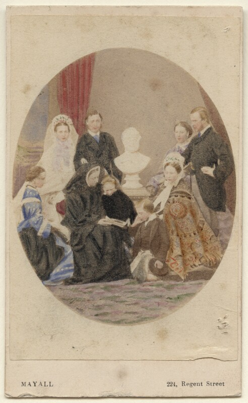 Queen Victoria with her family, by John Jabez Edwin Mayall, April 1863 - NPG Ax46726 - © National Portrait Gallery, London