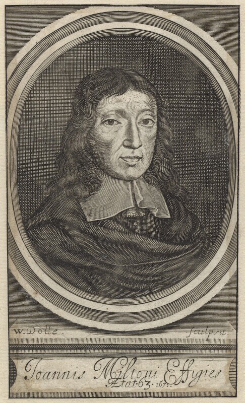 John Milton, by Walter Dolle, published 1672 - NPG D30105 - © National Portrait Gallery, London