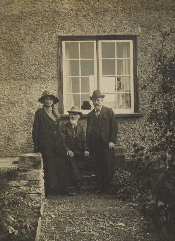 Beatrice Webb; Sidney James Webb, Baron Passfield; George Bernard Shaw, by Unknown photographer, 1919 - NPG P1292(19) - © National Portrait Gallery, London