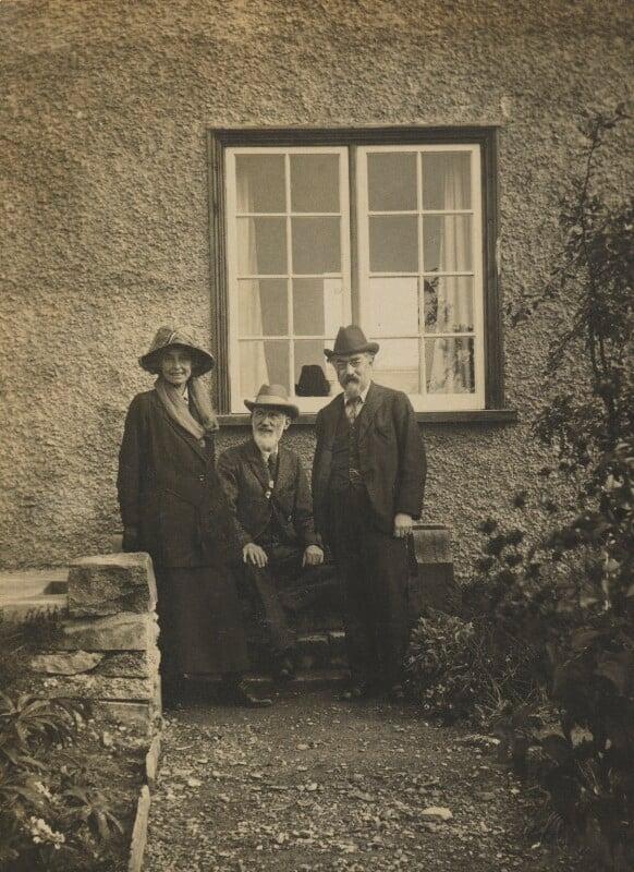 Beatrice Webb; Sidney James Webb, Baron Passfield; George Bernard Shaw, by Unknown photographer, 1919 - NPG P1292(19) - © National Portrait Gallery, London
