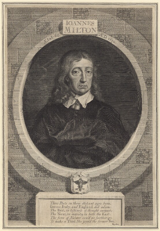 John Milton, by George Vertue, after  William Faithorne, 1725 - NPG D30109 - © National Portrait Gallery, London