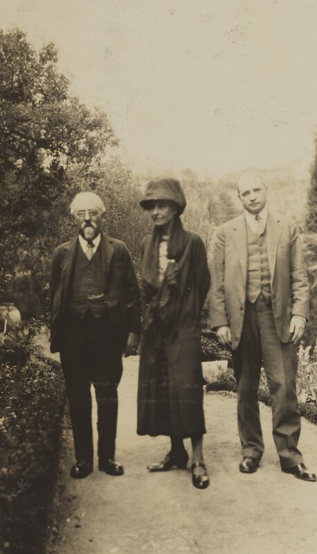 Sidney James Webb, Baron Passfield; Beatrice Webb and an unknown man, by Unknown photographer, 1920s - NPG P1292(41) - © National Portrait Gallery, London