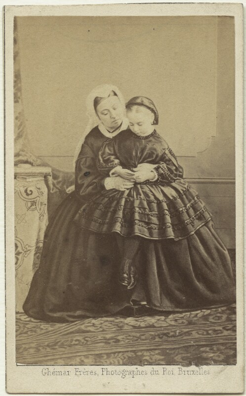 Queen Victoria; Princess Beatrice of Battenberg, by Ghémar Frères, September 1862 - NPG x32970 - © National Portrait Gallery, London
