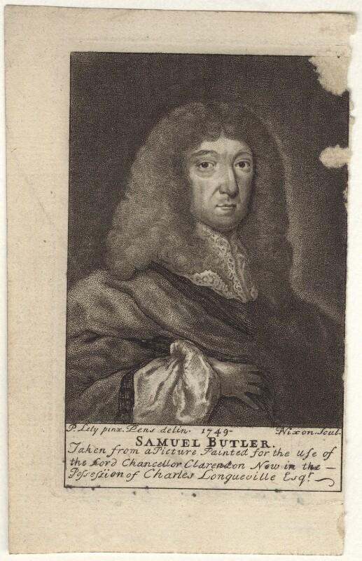 Samuel Butler, by James Nixon, after  Sir Peter Lely, published 1750 - NPG D30125 - © National Portrait Gallery, London