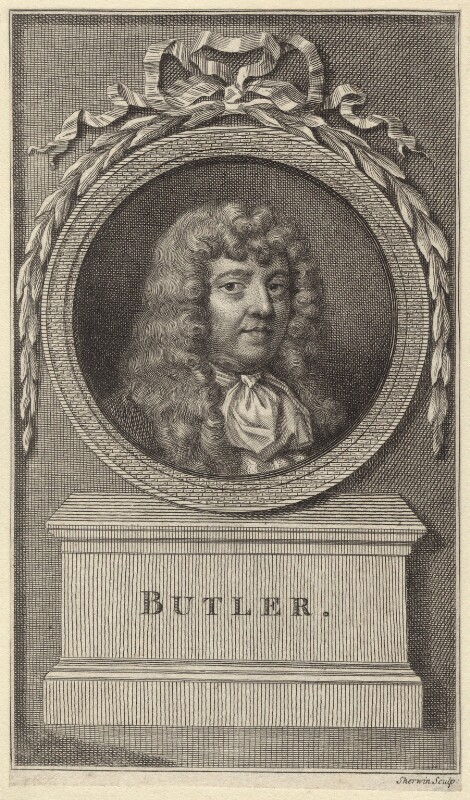 Samuel Butler, by John Keyse Sherwin, after  Gilbert Soest, late 18th century - NPG D30129 - © National Portrait Gallery, London