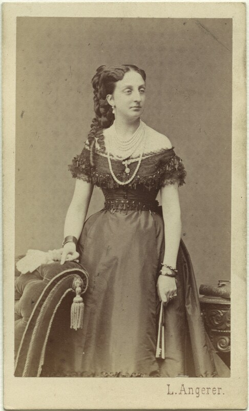 Princess Marie Isabelle of Orléans, Countess of Paris, by Ludwig Angerer, circa 1864 - NPG Ax33514 - © National Portrait Gallery, London