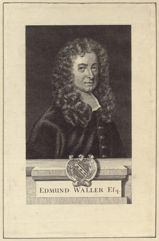 Edmund Waller, possibly after Sir Godfrey Kneller, Bt, late 18th century - NPG D30144 - © National Portrait Gallery, London