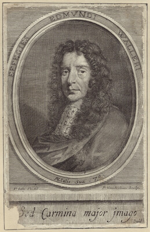 Edmund Waller, by Peter Vanderbank (Vandrebanc), after  Sir Peter Lely, published 1682 - NPG D30145 - © National Portrait Gallery, London