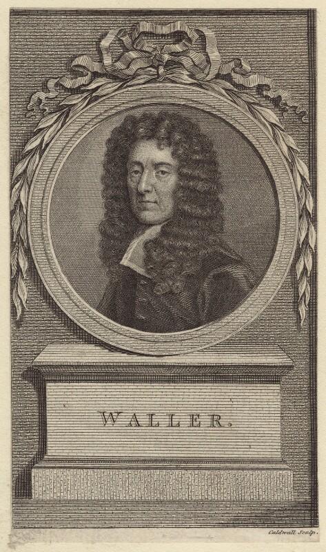 Edmund Waller, by James Caldwall, after  Sir Godfrey Kneller, Bt, published 1779 - NPG D30146 - © National Portrait Gallery, London