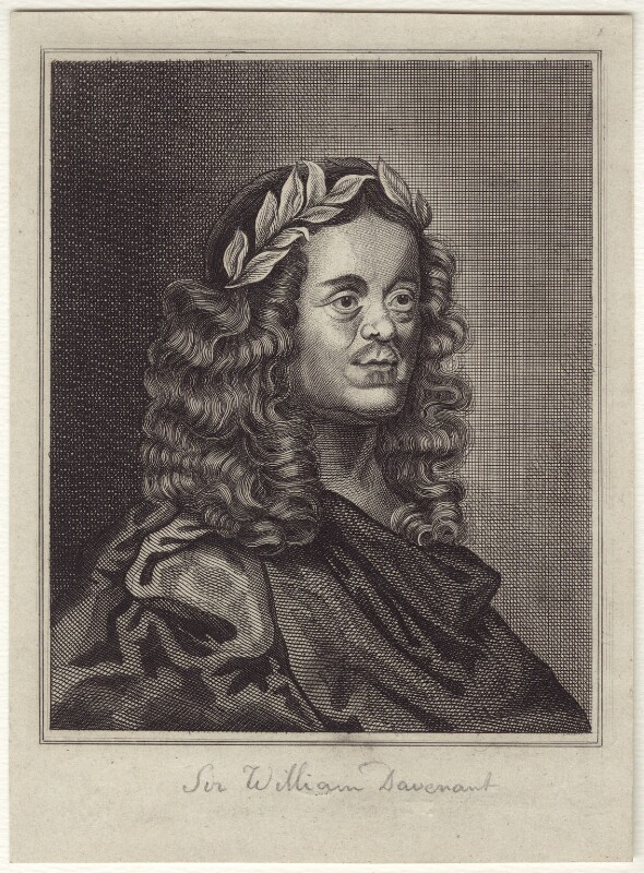 Sir William Davenant, after John Greenhill, late 18th to early 19th century - NPG D30152 - © National Portrait Gallery, London