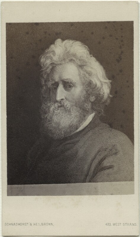 Sir William Francis Patrick Napier, by Schnadhorst & Heilbronn, after  Unknown engraver, after  George Frederic Watts, 1863-1864 - NPG Ax17812 - © National Portrait Gallery, London