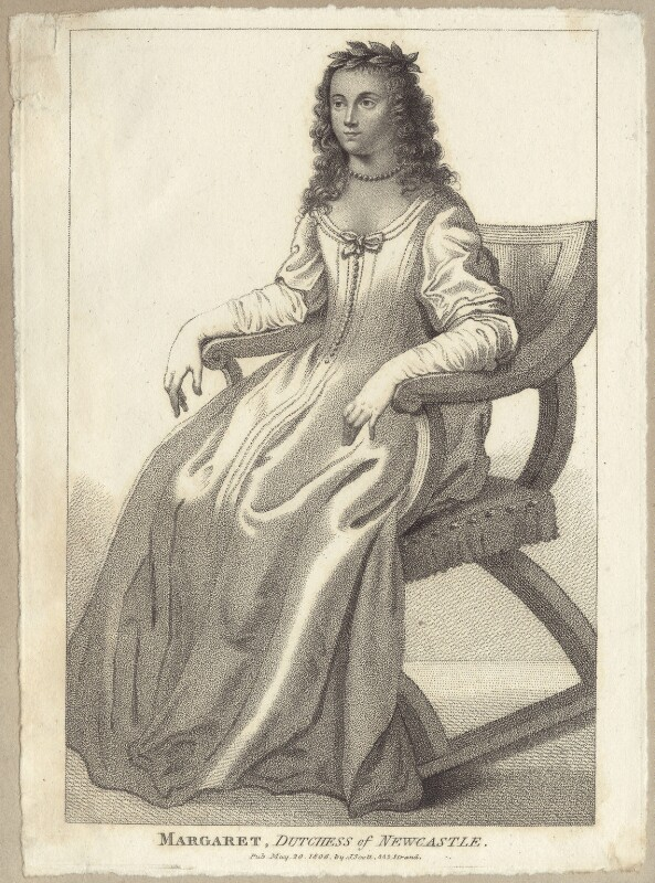 Margaret Cavendish (née Lucas), Duchess of Newcastle upon Tyne, published by John Scott, after  Abraham Diepenbeeck, published 20 May 1806 - NPG D30187 - © National Portrait Gallery, London