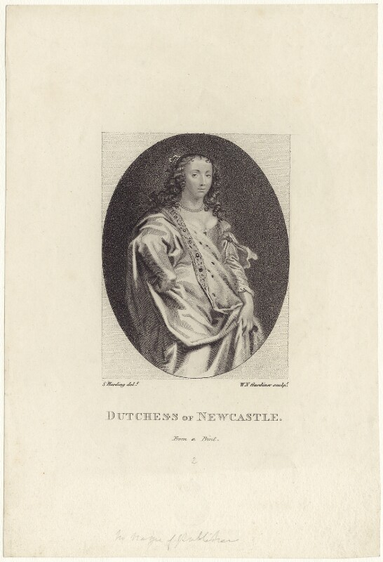 Margaret Cavendish (née Lucas), Duchess of Newcastle upon Tyne, by William Nelson Gardiner, after  Abraham Diepenbeeck, early 19th century - NPG D30192 - © National Portrait Gallery, London