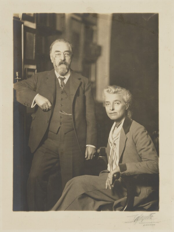Sidney James Webb, Baron Passfield; Beatrice Webb, by Lafayette, 1924 - NPG P1292(85) - © National Portrait Gallery, London