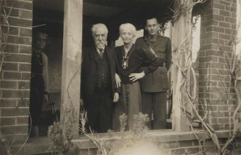 Sidney and Beatrice Webb with relatives, possibly by Sheila Cameron Meinertzhagen (née Macnamara), 1942 - NPG P1292(91) - © National Portrait Gallery, London