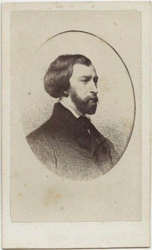 (Louis Charles) Alfred de Musset, after Victor Florence Pollet, after  Charles Landelle, (1854) - NPG Ax17893 - © National Portrait Gallery, London