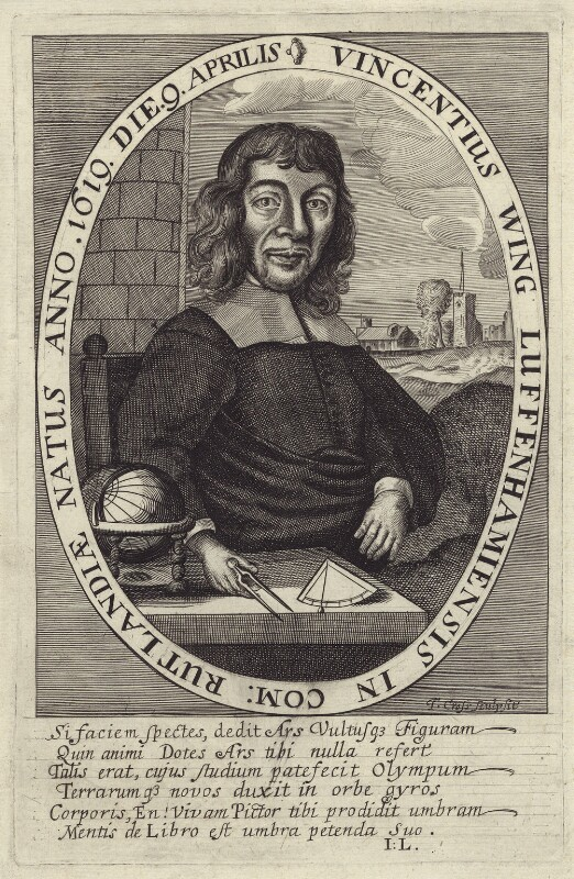 Vincent Wing, by Thomas Cross, after  Unknown artist, published 1652 - NPG D30331 - © National Portrait Gallery, London