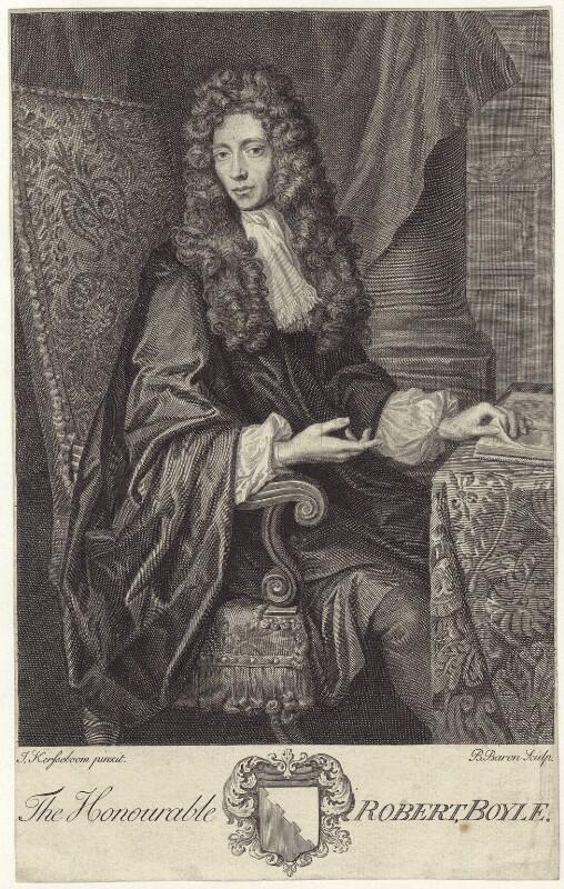 Robert Boyle, by Bernard Baron, after  Johann Kerseboom, published 1744 - NPG D30343 - © National Portrait Gallery, London