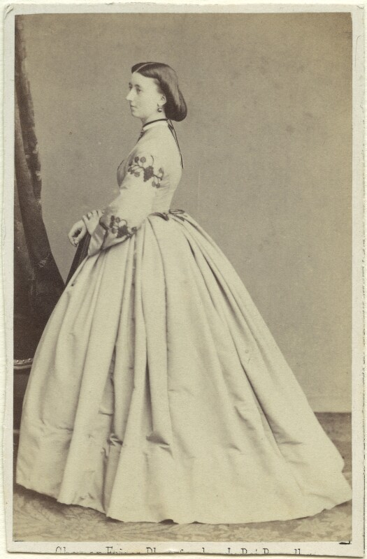 Madeline Hainguerlot (née Jerningham), by Ghémar Frères, 1860s - NPG Ax46355 - © National Portrait Gallery, London
