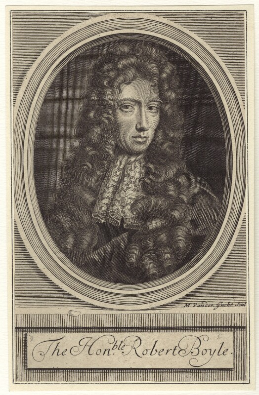 Robert Boyle, by Michael Vandergucht, after  Johann Kerseboom, late 17th to early 18th century - NPG D30344 - © National Portrait Gallery, London