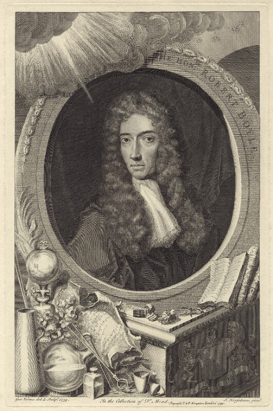 Robert Boyle, by George Vertue, after  Johann Kerseboom, published by  John & Paul Knapton, published 1740 - NPG D30347 - © National Portrait Gallery, London