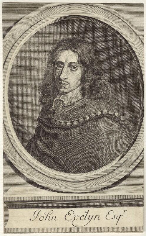 John Evelyn, after Robert Nanteuil, mid 18th century - NPG D30350 - © National Portrait Gallery, London