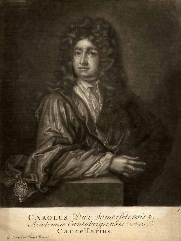 Charles Seymour, 6th Duke of Somerset, by John Faber Sr, after  Sir Godfrey Kneller, Bt, 1714 (circa 1703) - NPG D9182 - © National Portrait Gallery, London