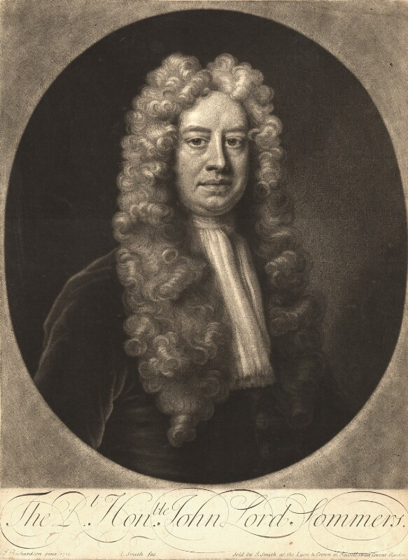John Somers, Baron Somers, by and sold by John Smith, after  Jonathan Richardson, 1713 (1713) - NPG D9184 - © National Portrait Gallery, London