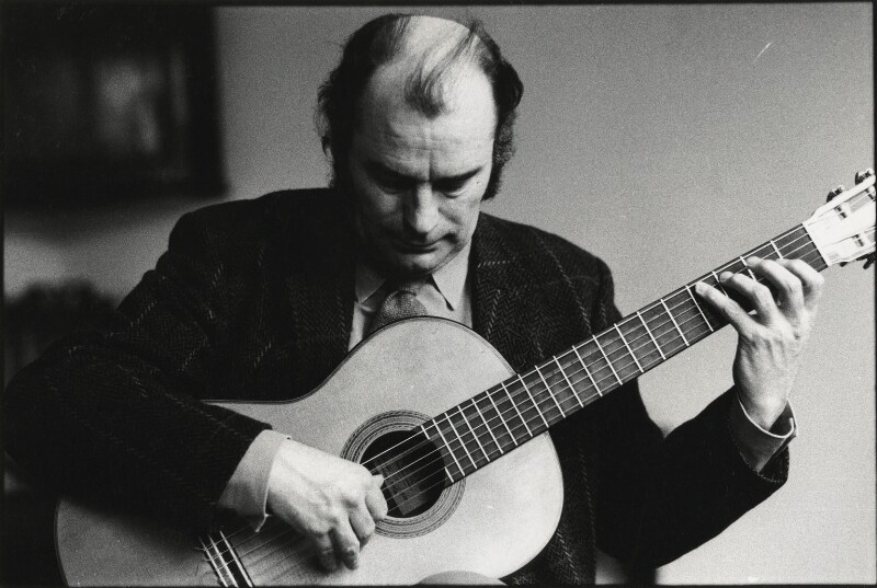 Julian Bream, by Roger Perry, 1970s - NPG x131672 - © estate of Roger Perry