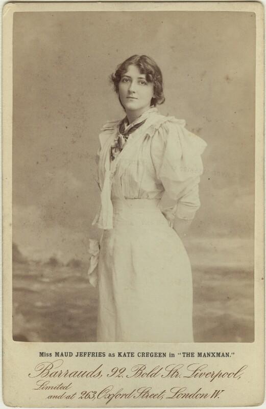 Maud Jeffries as Kate Cregeen in 'The Manxman', by Barrauds Ltd, 10 November 1894 - NPG x18861 - © National Portrait Gallery, London