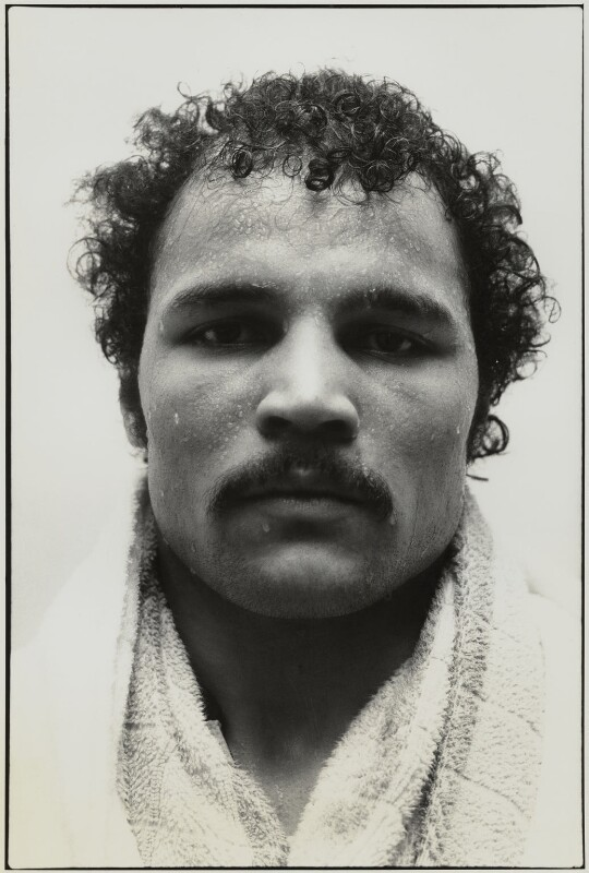 John Conteh, by Roger Perry, 1970s - NPG x131673 - © estate of Roger Perry