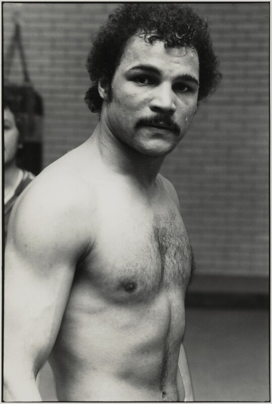 John Conteh, by Roger Perry, 1970s - NPG x131674 - © estate of Roger Perry