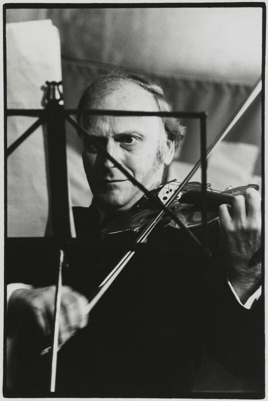 Yehudi Menuhin, by Roger Perry, 1970s - NPG x131680 - © estate of Roger Perry