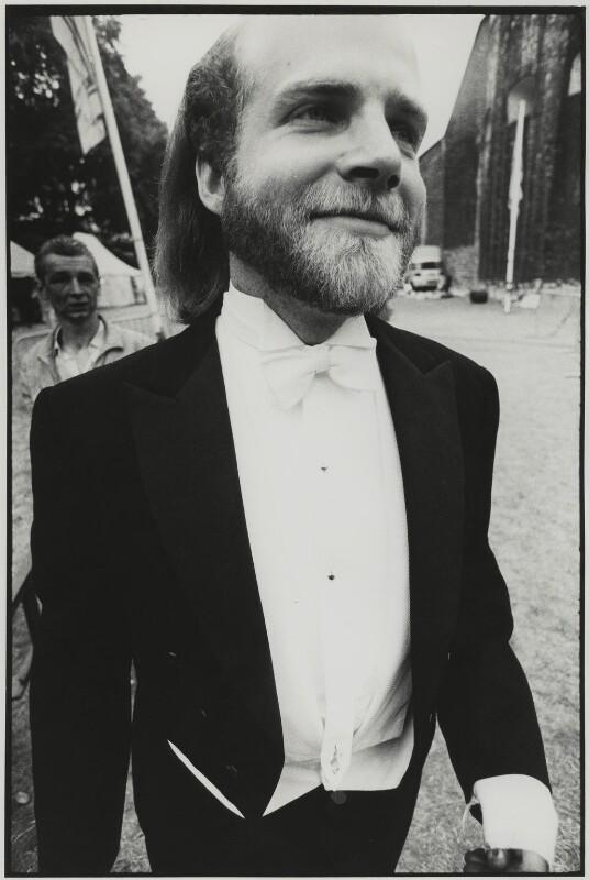 Peter Stark (with Jamie Proud in the background), by Roger Perry, July 1972 - NPG x131681 - © estate of Roger Perry