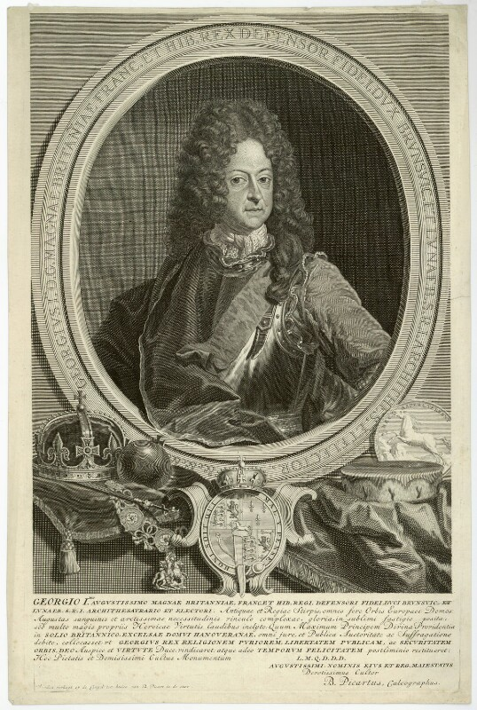 King George I, by and published by Bernard Picart (Picard), after  Unknown artist, 1714 - NPG D32841 - © National Portrait Gallery, London