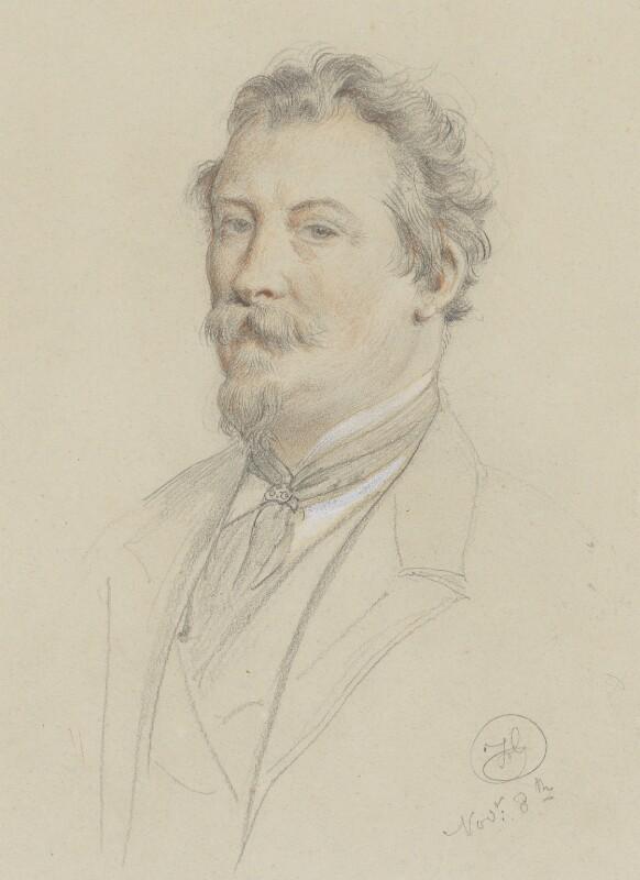 Frederick Goodall, by Frederick Goodall, 1870s -NPG 6841 - © National Portrait Gallery, London